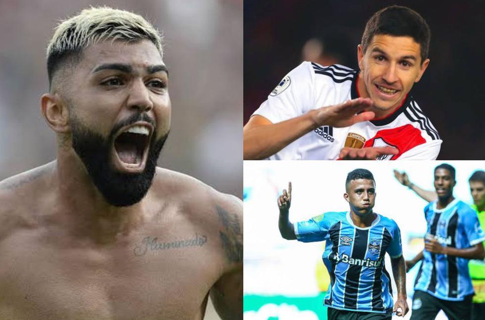 Los que más subieron su valor en la Copa Libertadores 2019. (Fotos: Getty)