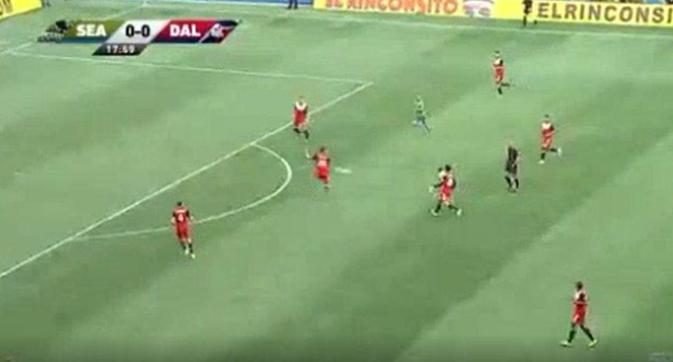 Golazo de Ruidíaz para el 1-0 del Seattle Sounders contra Dallas en Playoffs de MLS
