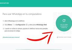 ¿Por qué no me parece el código QR en WhatsApp Web?