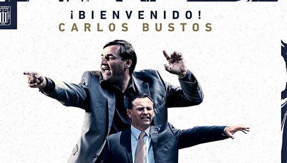 Carlos Bustos dio conferencia de prensa como nuevo DT de Alianza Lima. (Foto: Prensa AL)
