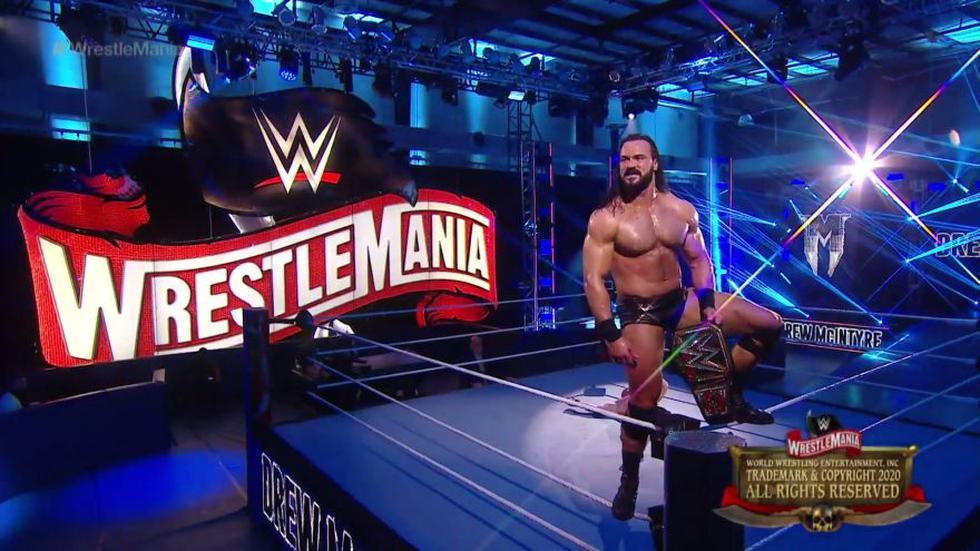 Drew McIntyre venció a Brock Lesnar y ganó el título de WWE. (WWE)