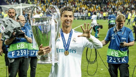 Cristiano Ronaldo ganó cuatro Champions League con el Real Madrid. (Getty)