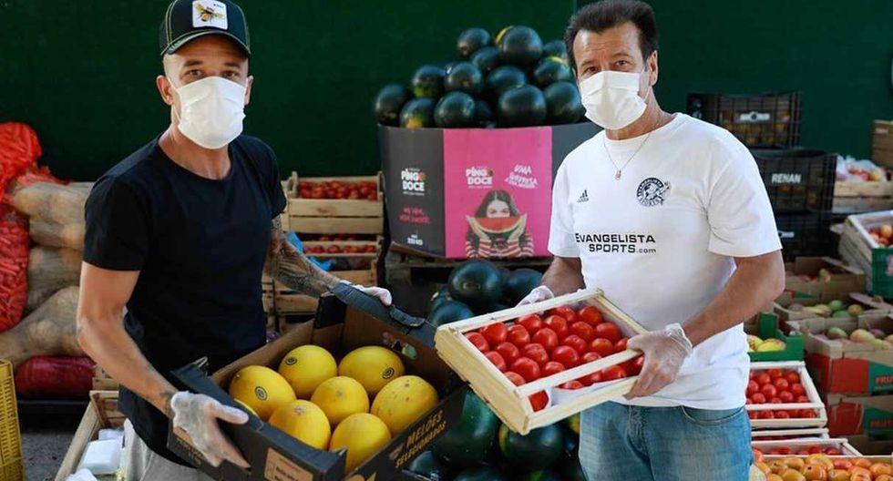 Andrés D'Alessandro se unió a la iniciativa de Dunga para llevar alimentos a los más necesitados. (Foto: @dale10)