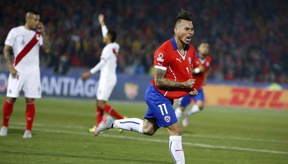 Eduardo Vargas anotó el último gol de los partidos entre Chile y Perú por Copa América, en 2015. (Foto: AP)