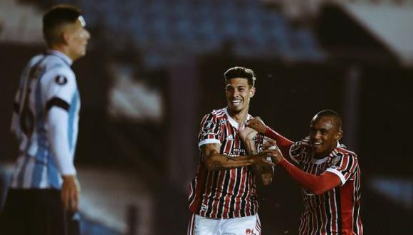 Sao Paulo venció 3-1 a Racing y clasificó a los cuartos de final de la Copa Libertadores 2021. (Foto: Getty Images)