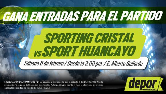 Sporting Cristal vs. Sport Huancayo: Depor te regala entradas dobles