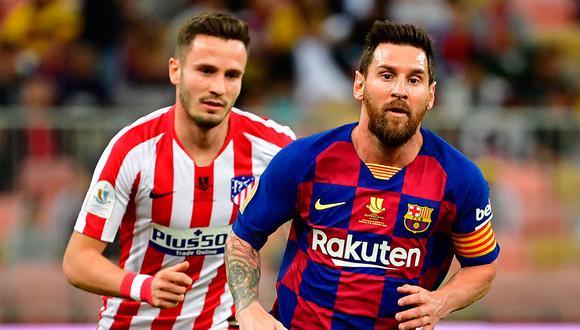 Barcelona y Atlético empataron sin goles en el Camp Nou. Resultado favorece  a los colchoneros, que mantienen el liderato en LaLiga Santander. (Foto: AFP)