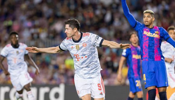 Robert Lewandowski marcó un doblete en el el triunfo del Bayern Munich vs. Barcelona. (Foto: Agencias)