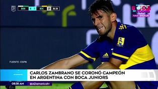 Carlos Zambrano sumó su segundo título con Boca Juniors