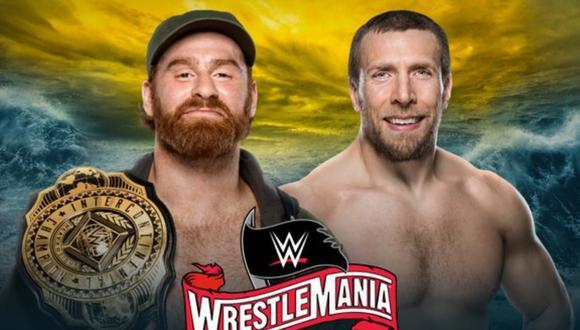 Afiche oficial de la pelea entre Sami Zayn y Daniel Bryan. (Foto: WWE)