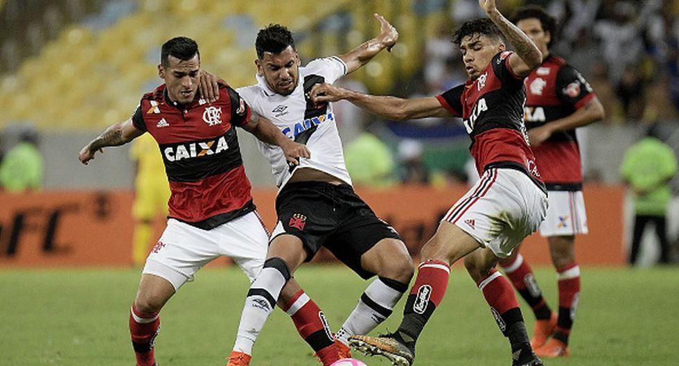 Perú vs. Brasil | Trauco y Guerrero con Lucas Paquetá en Flamengo (Foto: Getty Images)