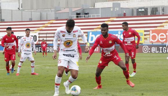 Ayacucho FC y Sport Huancayo empataron 1-1 en el Miguel Grau del Callao. (Foto: Liga 1)