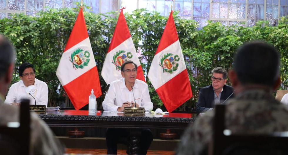 Martín Vizcarra ofrece conferencia de prensa a todos los peruanos. (Foto: Presidencia)