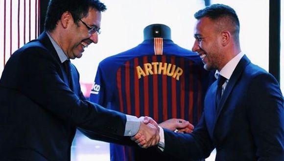 Arthur Melo llegó al Barcelona en 2018 desde Gremio. (Instagram)