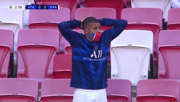 Kylian Mbappé se lamenta ocasión fallada por Neymar ante Atalanta. (Video: UCL)