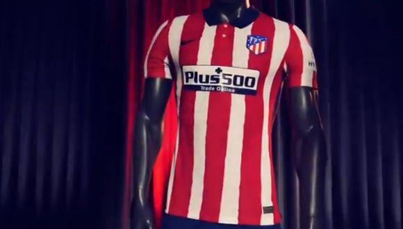 Atlético de Madrid presentó su camiseta para la temporada 2020-21. (Twitter)