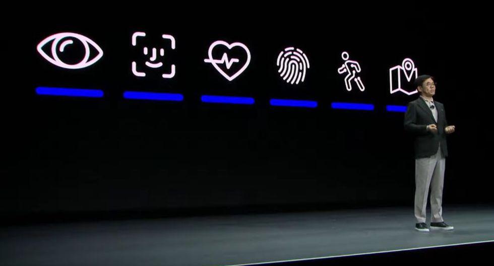 Samsung empleó un icono de Apple en su presentación (Captura)