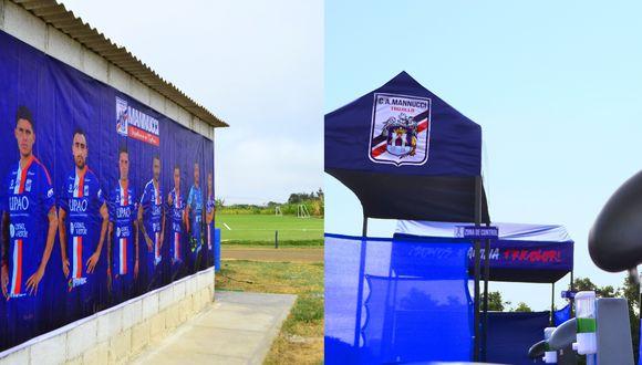 Así luce la sede de entrenamiento del club Carlos Mannucci. (Foto: Twitter)