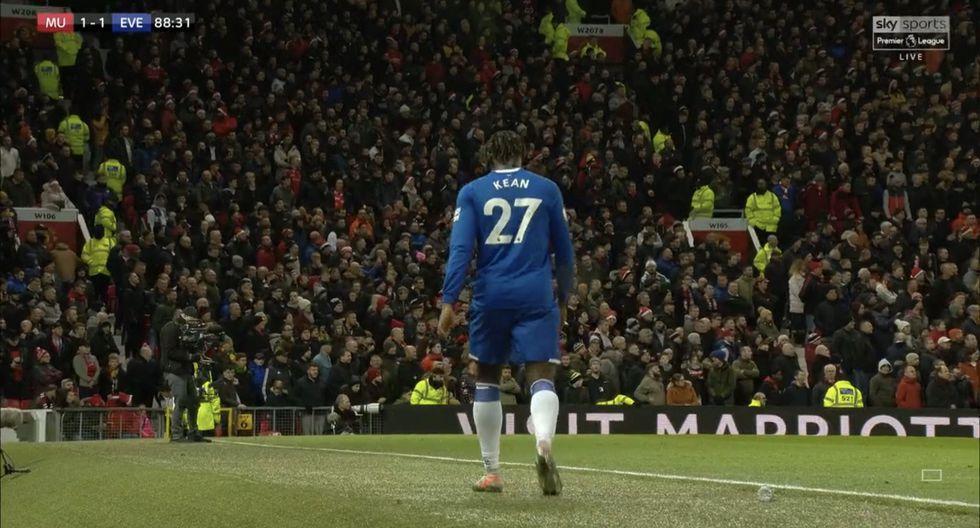 Moise Kean fue cambiado a los 18 minutos de ingresar al campo. (Sky Sports)