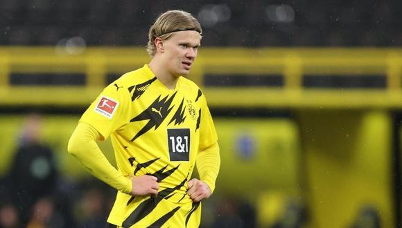 El club que desee fichar a Erling Haaland tendrá que pagarle un salario de 90 millones por cinco temporadas. (Foto: EFE)