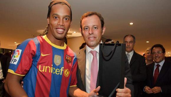 Sandro Rosell habló de la situación de Ronaldinho en Paraguay. (Foto: FC  Barcelona)