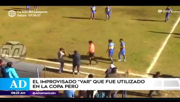 """El día que árbitro improvisó """"VAR"""" en la Copa Perú (Video: América TV)"""