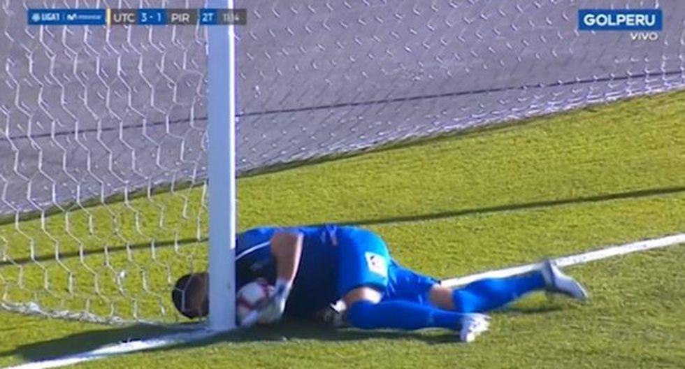 El polémico gol del 'Pana' Tejada que el árbitro no cobró. (Captura: GOLPERU)