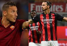 """""""Zlatan podría jugar con una pierna"""": los halagos de Totti al jugador del AC Milan"""