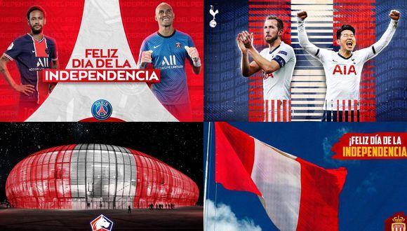 El partido parte de las redes sociales de los clubes europeos con el Perú.