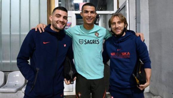 Cristiano Ronaldo y Luka Modric jugaron juntos en el Real Madrid hasta mediados de 2018. (Instagram)