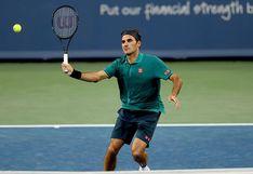 ¡Gran primer partido! Roger Federer superó al argentino Juan Ignacio Londero en el Masters 1000 de Cincinnati