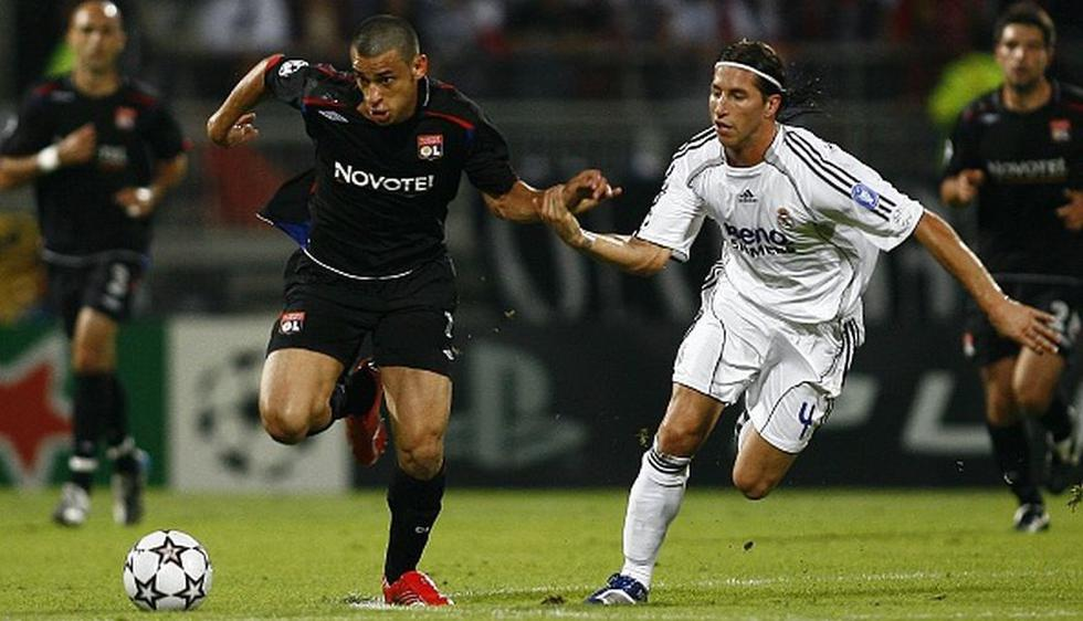 Real Madrid cayó ante el Lyon en el 2006 en su debut por Champions. (Getty Images)