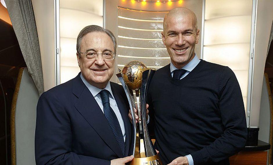 Real Madrid ganó tres Champions League consecutivas con Zidane. (Getty)
