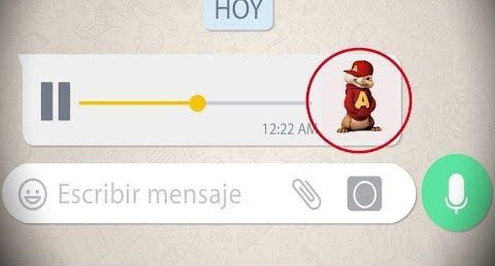 Así podrás enviar audios con voz de ardilla a tus contactos de WhatsApp. (Pinterest)