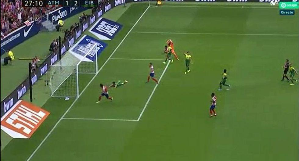 Joao Félix puso el 2-1 del Atlético de Madrid ante Eibar por Liga Santander. (Movistar LaLiga)