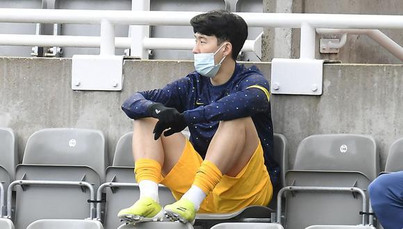 Heung Min Son anotó el 1-0 de Tottenham vs. Manchester United por Premier League. (Foto: AFP)