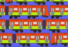 Solo para expertos: ubica los 4 trenes que son distintos a los demás lo más rápido posible