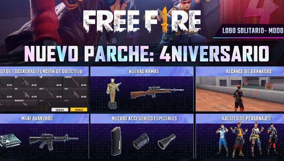 Free Fire OB29: las nuevas funciones que llegaron al Battle Royale