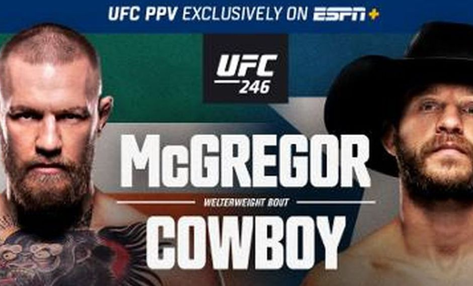 McGregor vs Cowboy Cerrone: día, hora y canal del UFC 246 desde Las Vegas. (UFC)