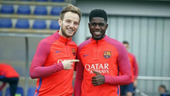 Rakitic y Umtiti juegan juntos en el FC Barcelona desde 2016. (AFP)
