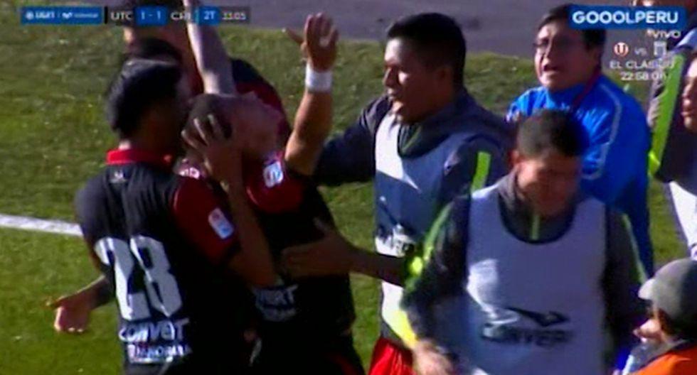 Patricio Álvarez no pudo evitar el gol del empate en el Sporting Cristal vs. UTC. (Captura)
