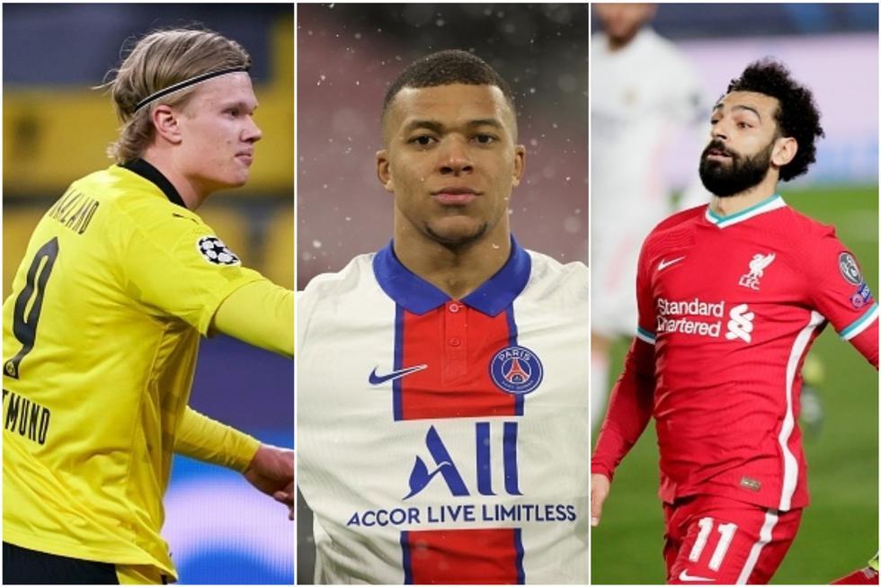 Los goleadores de la Champions League tras la ida de cuartos de final. (Getty)