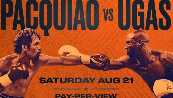 Pacquiao vs. Ugás: día, hora y canales de TV para ver pelea por título de la AMB desde Las Vegas. (Twitter)