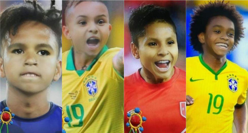 Así 'fueron' los jugadores de la Selección Peruana con cara de bebé.