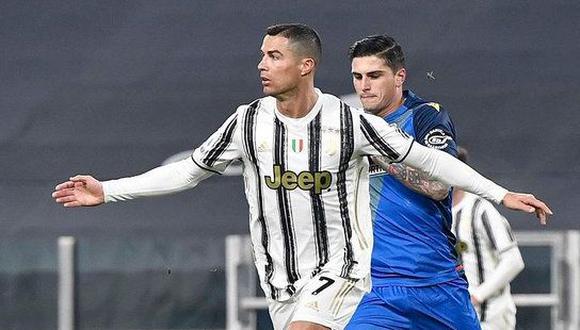 Cristiano Ronaldo marcó sus dos primeros goles del año ante Udinese. (AFP)