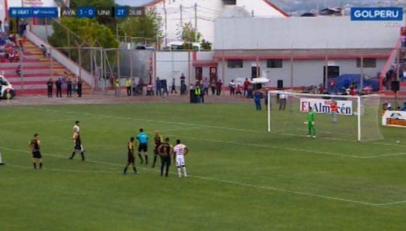 José Carvallo atajó un penal ante Ayacucho FC (Captura: Golperu)