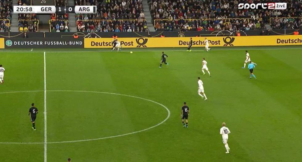 El gol de Havertz tras el error de Marcos Rojo en el Alemania vs. Argentina. (Sport2)