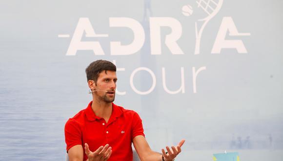 'Nole' durante la conferencia de prensa del 'Adria Tour'. (Foto: Getty Images)