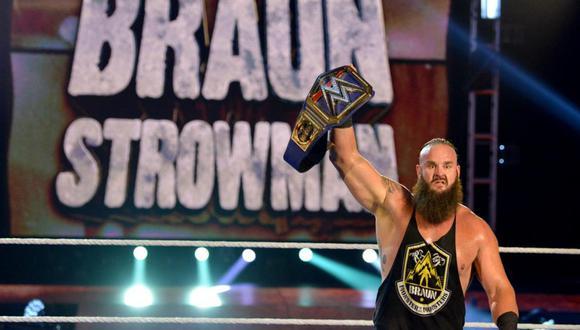Braun Strowman se convirtió en el nuevo campeón universal de la WWE en WrestleMania 36. (Foto: WWE)