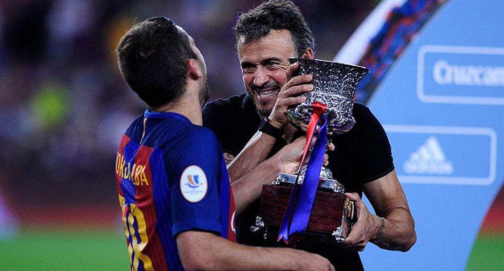 Luis Enrique ganó la última Champions League para el club azulgrana. (Getty)